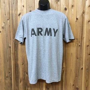 米軍実物/8415-01-465-7087 メンズ M グレー 半袖Tシャツ FITNESS UNIFORM(IPFU)/ARMY フィジカルTシャツ ミリタリー アメカジ USA古着 a