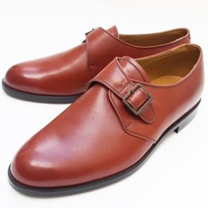 リーガル★25.5cm EE 未使用 モンクストラップ 革靴 レザーシューズ REGAL ブラウン 茶 メンズ 紳士靴 ビジネス フォーマル