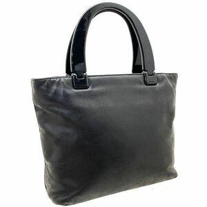 ● プラダ ハンドバッグ プラハンドル トートバッグ レザー 革 ブラック 黒 PRADA トート 手提げ バッグ バック カバン 鞄 NERO