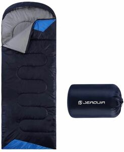 封筒型寝袋 軽量 保温 防水 簡単収納シュラフ 1.35kg 春夏秋
