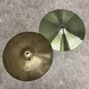 □Zildjian ジルジャン シンバル ハイハット Hi-hat AVEDIS 14インチ ノーブランド 練習用 2枚 セット 楽器 ドラム 打楽器 □21072701