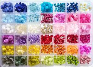 ●送料無料 小さめ花材セットN ケース入り プリザーブド ドライ 封入素材 レジン 3Dハーバリウム ネイル アクセサリー インアリウム 2●