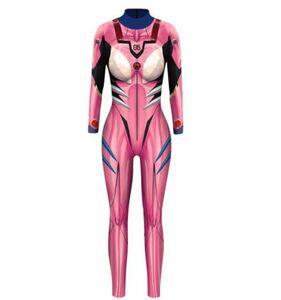 ピンク 全身タイツ 長袖レオタード コスプレ コスチューム ゲームキャラクター レースクイーン