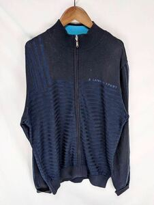 大きいサイズ LANVIN SPORT ランバン スポーツ ジャケット カーディガン ニット セーター メンズ Lサイズ スポーツ ゴルフ golf 機能素材