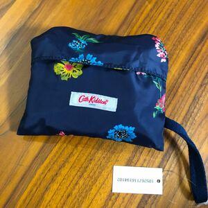キャスキッドソン フォルダウェイトート トワイライトスプリグ エコバッグ 折り畳み コンパクト ネイビー ポケッタブル 花柄