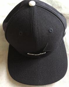 美品 別注 コラボ DESCENDANT×NEW ERA CAP 国内正規品 ディセンダント ニューエラ キャップ/帽子 ベースボール BOX ロゴ LOGO