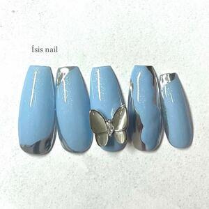 ネイルチップ 蝶 蝶々 韓国 ネイル 量産型 成人式 前撮り