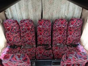 211282 三菱 ふそう エアロミディ バス KK-MJ26HF 5人掛けシート リクライニング リアシート