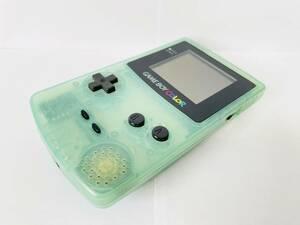 【送料無料】ゲームボーイカラー (アイスブルー) 本体のみ,CGB-001,動作確認済,ケース分解清掃済,トイザらす限定/任天堂,Nintendo,GBC