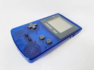 【送料無料】ゲームボーイカラー (ミッドナイトブルー) 本体のみ CGB-001,動作確認済,ケース分解清掃済/任天堂,Nintendo,GBC