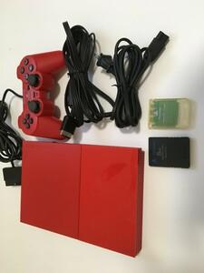 PS2 SCPH-90000cr(プレイステーション2 シナバーレッド)