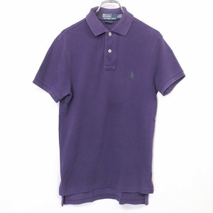 Polo by Ralph Lauren ラルフローレン XS レディース(メンズ?) ポロシャツ カットソー 鹿の子 半袖 ロングテール 綿100% パープル 紫