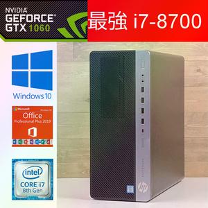 ♪性能怪物【GeForce GTX1060搭載】第八世代i7 HP EliteDesk800G4 ゲーミングPC超大容量メモリー32G 高速SSD512G+HDD1500GB office付