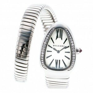 ブルガリ BVLGARI セルペンティ ベゼルダイヤ SP35C6SDS.1T シルバー文字盤 新品 腕時計 レディース