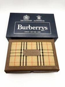 バーバリー 小物入れ ブラウン 極美品 マルチケース BURBERRY 財布 箱 コインケース 時計