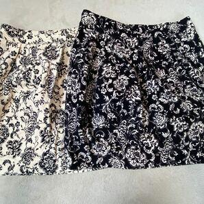 花柄 膝丈スカート