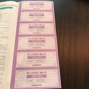 名鉄百貨店 10%割引券 6枚 名古屋鉄道