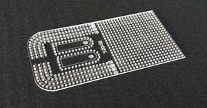 レザークラフト用 4mm定規  アクリル型  レザークラフト 型紙