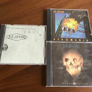 デフレパードグレイテストヒッツ (レッド) デフレパード DEF LEPPARD CD 3枚セット