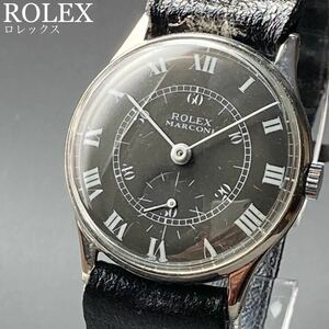 動作良好★整備済み★ロレックス アンティーク 腕時計 1950年前後 メンズ 手巻き ROLEX Marconi ケース径32㎜ ビンテージ ウォッチ 男性