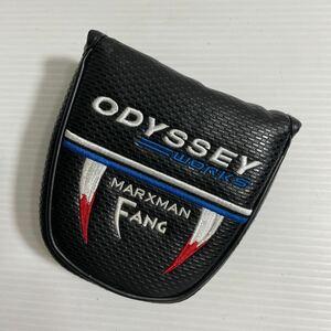 ODYSSEY WORKS MARXMAN FANG マレットタイプ用パターカバー オデッセイ ワークス マグネットタイプ 磁石 管理番号1703