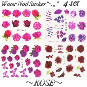●Nail Sticker●ウォーターネイルシール●【ROSE】