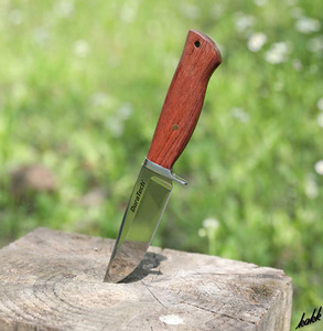 【鏡面仕上げシースナイフ】 サバイバルナイフ 天然ウッドハンドル ステンレス鋼 高硬度 キャンプ サバイバル 狩猟
