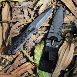 【フルスタング構造シースナイフ】ステンレススチール 狩猟刀 防錆び 良く切れる 研ぎやすい キャンプ サバイバル 釣り