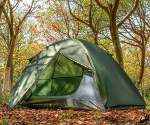 【簡単に設営出来る】 ソロキャンプ 1-2人用 耐水圧3000mm 前室あり 軽量 コンパクト 通気窓 ツーリング キャンプ レジャー カーキ