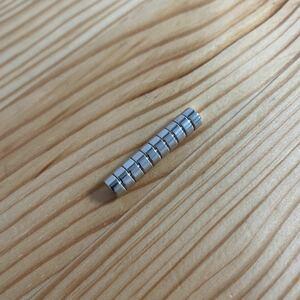 ネオジム磁石 ネオジムマグネット 直径約6mm 10個 野良ネズミなどのエラストマーワームのチューン用マグネットに! 今江プロ イマカツ