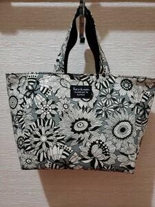 ハンドメイド レトロ花柄スクエアハンドバッグ
