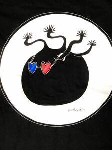 3Dメガネ パキポディウム 半袖Tシャツ Sサイズ aroundaglobe caudex pachypodium グラキリス 植物 ぽってり ブラック
