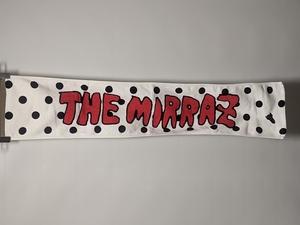 ザ・ミイラズ The Mirraz マフラータオル ホワイト ブラック 白 黒 水玉 ロケット 牛 ツアーグッズ フェス