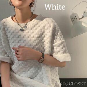 ビッグTシャツ チュニック スエット ホワイト 韓国 トップス オルチャン 白 カットソー ミニワンピース 半袖 ユニセックス