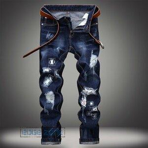 ジーンズ メンズ ジーパン デニムパンツ デニム パンツ ジーンズ メンズ ジーパン デニムパンツ デニム パンツ Gパン ダメージ加工 アメカ