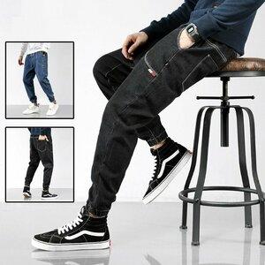 ジーンズ メンズ デニムパンツ ダメージ加工 無地 紐付き ジーンズ メンズ デニムパンツ ダメージ加工 無地 紐付き ジーパン ロング おし