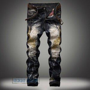 ジーンズ メンズ デニムパンツ ジーパン パンツ Gパン ジーンズ メンズ デニムパンツ ジーパン パンツ Gパン デニム ボトムス カットデニ