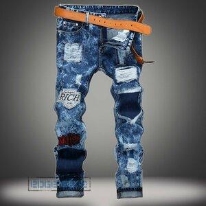 ジーンズ メンズ デニムパンツ デニム ジーパン パンツ 刺繍 ジーンズ メンズ デニムパンツ デニム ジーパン パンツ Gパン ボトムス ダメ