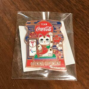 DAY1 コカコーラ 東京オリンピック パラリンピック ピンバッジ ピンバッチ 招き猫 デイピン opening ceremony
