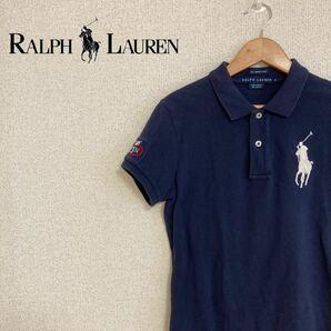 RALPH LAUREN ポロシャツ 半袖 ネイビー 紺 レディース