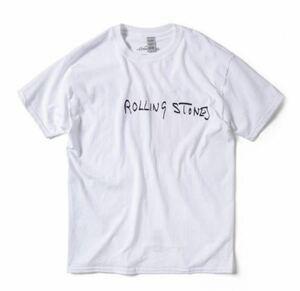 【新品未使用】【XLサイズ】dojoe fourteen years old 手刷り The Rolling Stones Classic Tongue Hand-Printed TeeFOURTEEN YEARS OLD