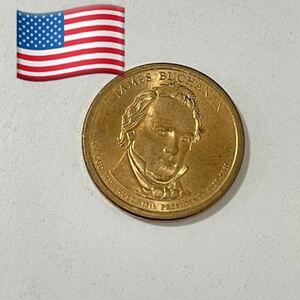 американский редкий коллекционер золотых, желтых и медных монет $1