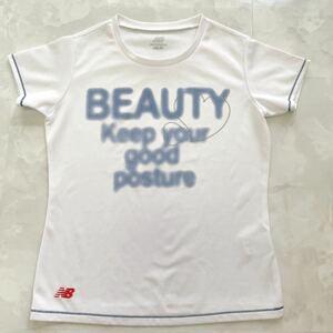 new balance●ニューバランス●レディース Tシャツ・速乾・ホワイトす