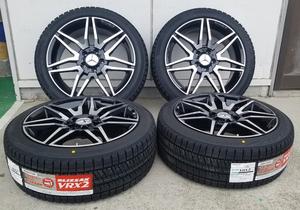国産スタッドレス ベンツ Eクラス W212/W213 245/40R18 ブリヂストン VR-X2 18インチ 新品タイヤホイールセット 1台分
