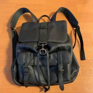 COACH コーチ リュックサック レザー メンズバッグ バックパック 革 リュック 黒 バッグ ブラック 鞄