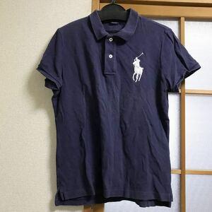 ラルフローレン RALPH LAUREN POLO POLO RALPH LAUREN ポロラルフローレン ポロシャツ 紺 ネイビー 馬 Pony ビッグポニー BIG 古着