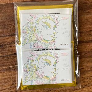 煉獄杏寿郎 原画コレクション スクエア 缶バッジ A 2点セット