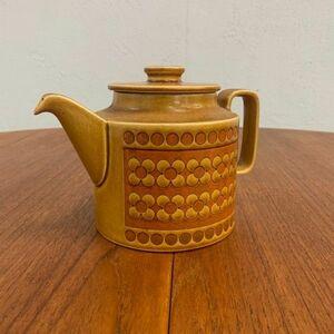 IZ49938C○HORNSEA サフラン ティーポット コーヒーポット 英国 ビンテージ ホーンジー Saffron イギリス ビンテージ キャメルカラー 陶器