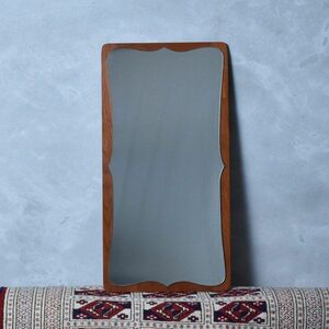 IZ42114N○デンマーク 製 ヴィンテージ ウォールミラー チーク 北欧 ミッドセンチュリー モダン 壁掛け鏡 全身鏡 インテリア ディスプレイ