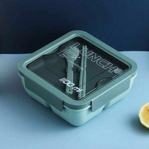 弁当箱 ランチボックス 漏れ防止スプーン付き 分格ランチボックス軽量 ポータブル